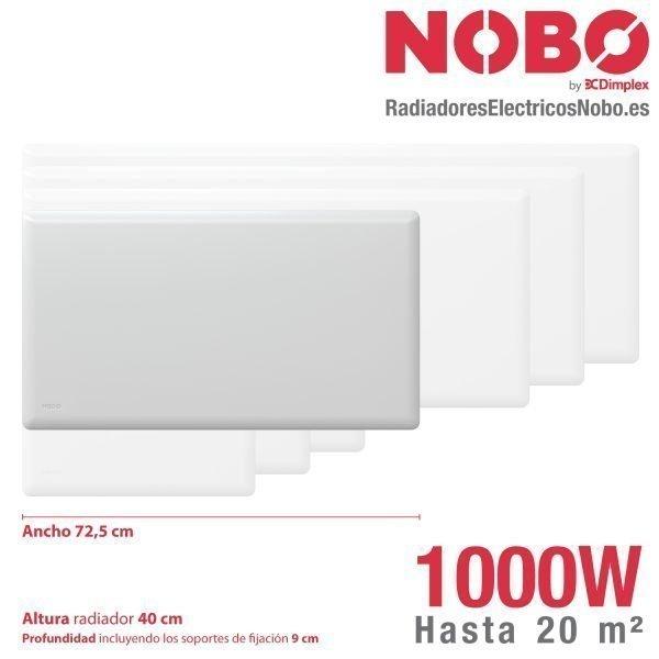 Radiadores-electricos-noruego-Nobo-dimensiones-1000W