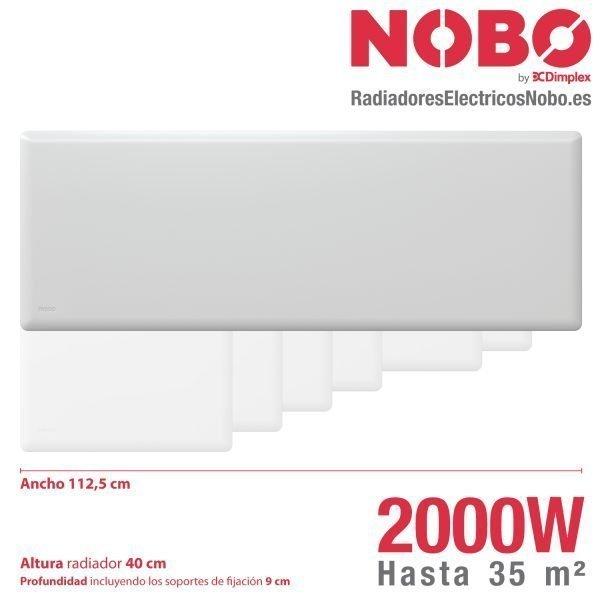 Radiadores-electricos-noruego-Nobo-dimensiones-2000W