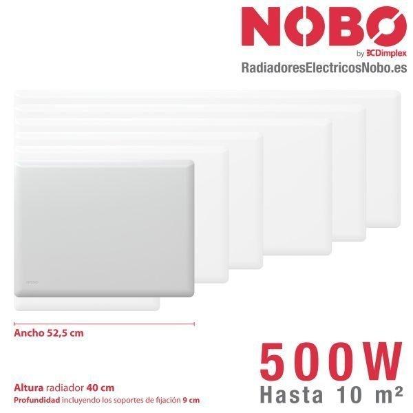 Radiadores-electricos-noruego-Nobo-dimensiones-500W