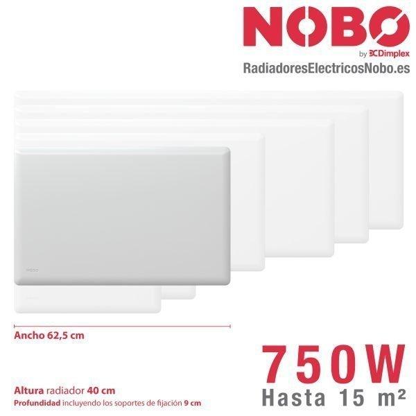 Radiadores-electricos-noruego-Nobo-dimensiones-750W